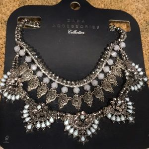 Zara Silver and Baby Blue Necklace